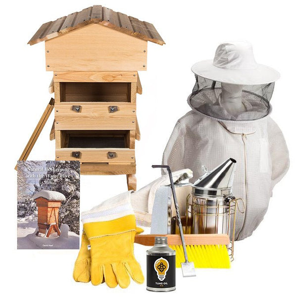 Cedar Warre hive starter kit with ventilated jacket