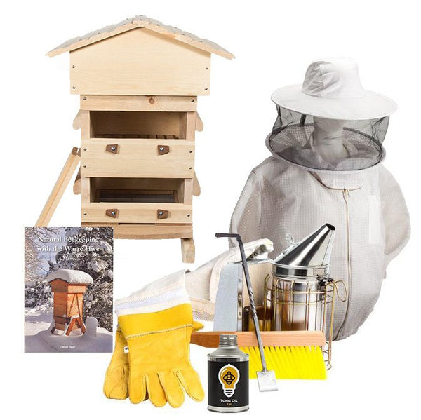 Sugar pine Warre hive starter kit with ventilated jacket