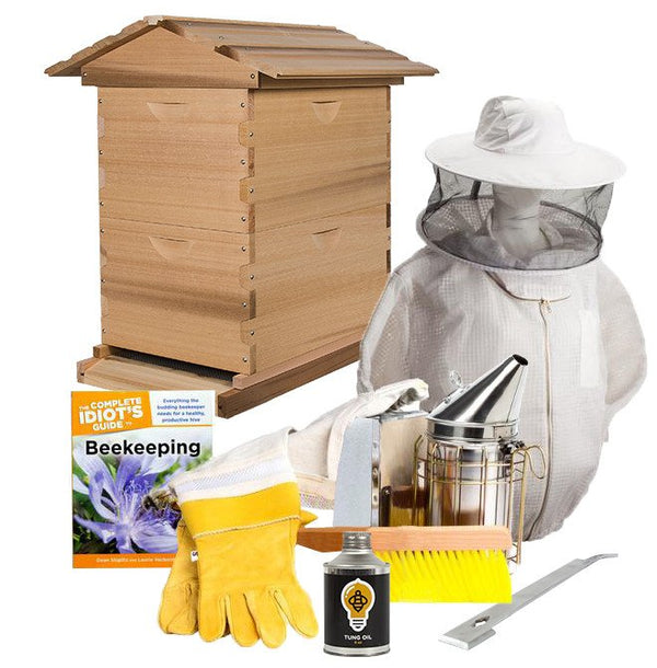 Cedar beekeeping starter kit with ventilated jacket