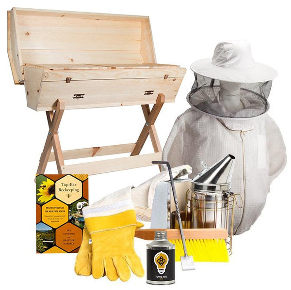 Top bar hive starter kit with ventilated jacket