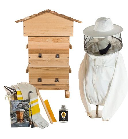 Cedar Warre hive starter kit with unventilated jacket