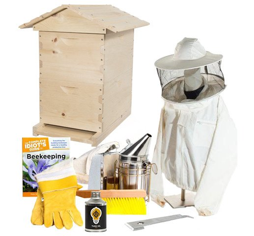 Pine beekeeping starter kit with jacket