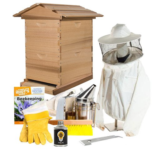 Cedar beekeeping starter kit with jacket
