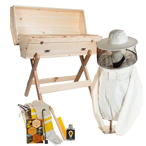 Top bar hive starter kit with non-ventilated jacket