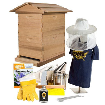 Cedar beekeeping starter kit with hat veil