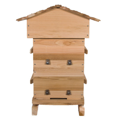 Cedar Warre hive with windows closed