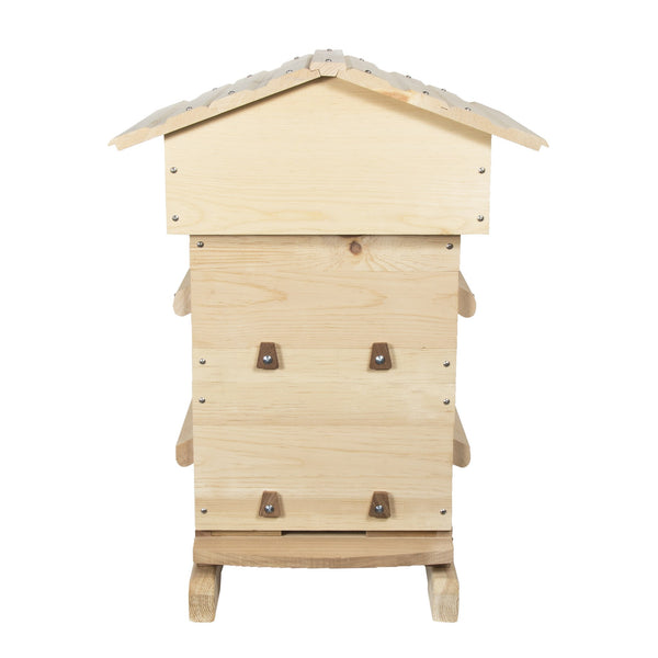 Sugar pine Warre hive with windows closed