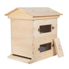Pine deep beehive with windows open