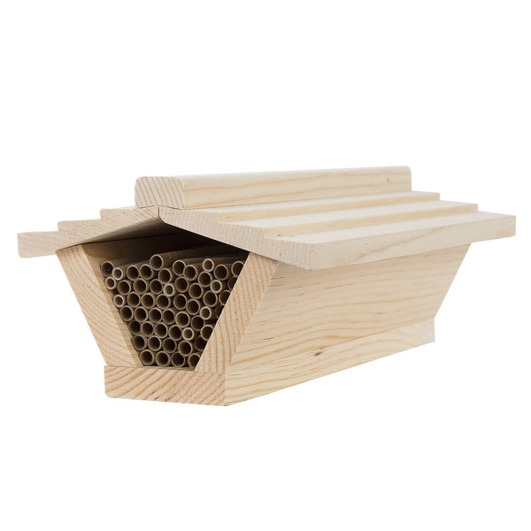 Top Bar Style Mason Bee House with Shingled Roof