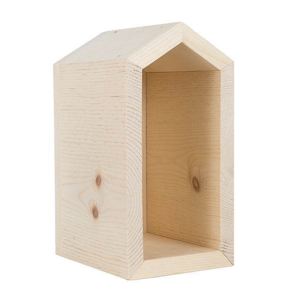 Mason Bee House with Peaked Roof