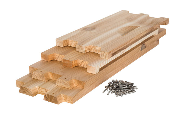 Western red cedar medium box unassembled