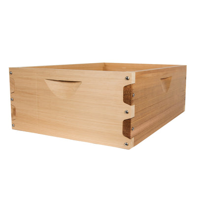 Shallow western red cedar hive box
