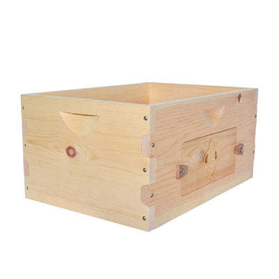 Sugar pine deep box with windows