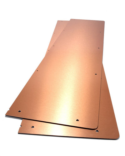 Copper composite panels for top bar hive.