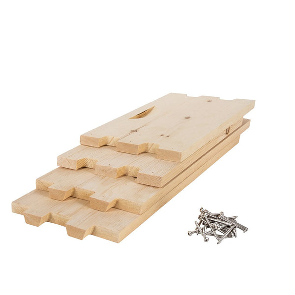 Shallow sugar pine hive box unassembled