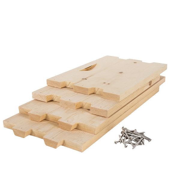 Sugar pine deep box unassembled with stainless steel screws