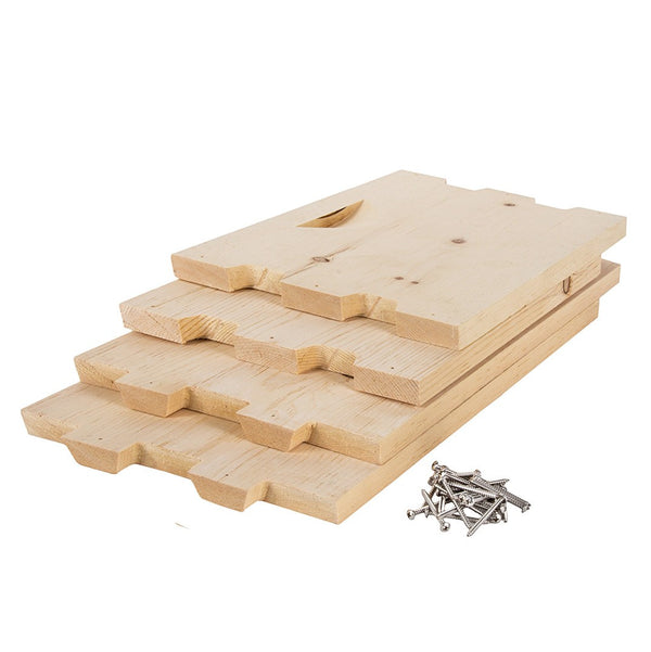 Unassembled pine deep box