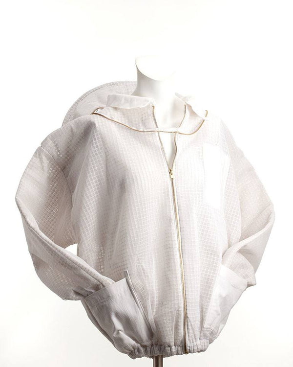 Ventilated Beekeeping Jacket with Veil Back
