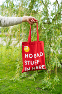 SUN365 ECO FRIENDLY COTTON SHOPPING BAG (RED)