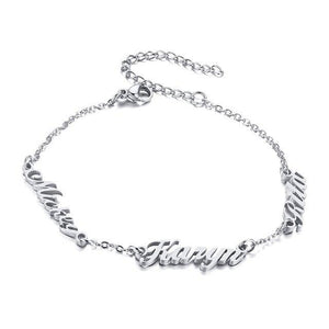 Create Your Own Inspiration 3 Words Chain Bracelet - 3 Colour Options