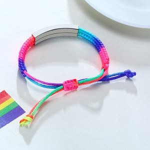 Create Your Own Inspiration Customized Rainbow Bracelet