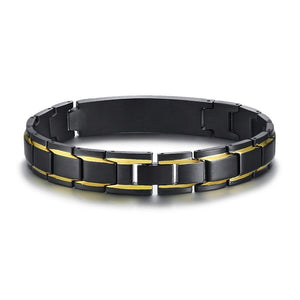 Create Your Own Inspiration Customized Black Stainless Steel Bracelets
