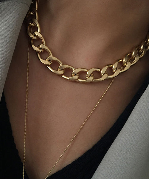Non-glossy Chain Necklace 무광 체인 목걸이