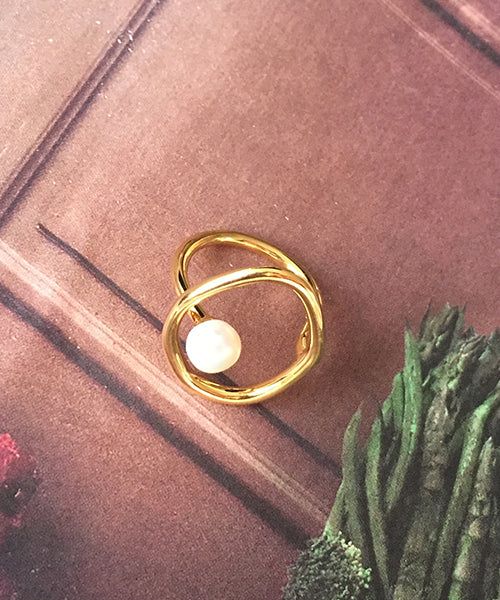 Oval Pearl Ring 오벌 진주 반지