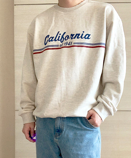 California Pullover Cream 캘리 맨투맨 크림