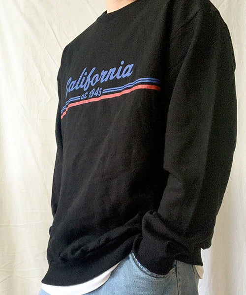 California Pullover Black 캘리 맨투맨 블랙