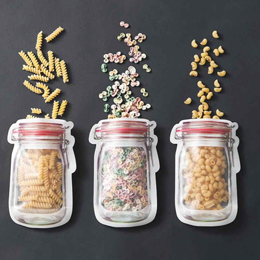 Nuts Cookies Candy Snacks Convenient Sealed Plastic Mason Bottle Bags