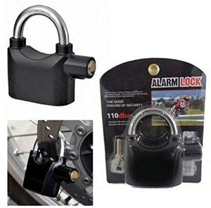 WONDER SECURE Anti Theft Motion Sensor Alarm Lock (Black)