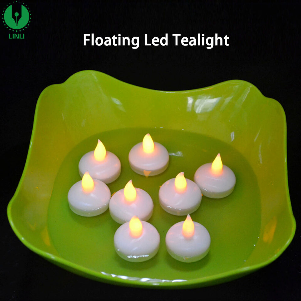 Sensor Floating LED Candles (Multi Color Lights)