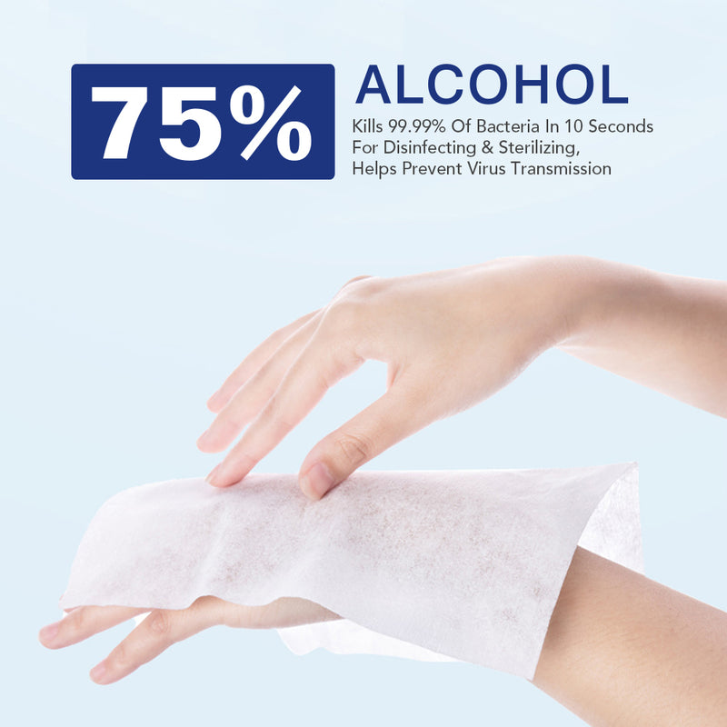 Premium Disinfecting Alcohol Sanitizing Wipes - SeattlePPE