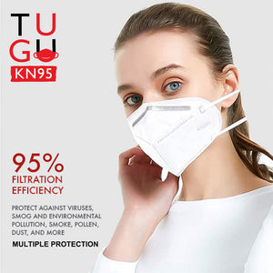 TUGU KN95 Multi-layer Protection 95% Filtration Respirator Face Masks (5 to 300 Pack)