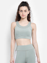 Load image into Gallery viewer, Gym/Yoga Medium Waist Tight With Boat neck Sports Bra Complete Set - L.Green