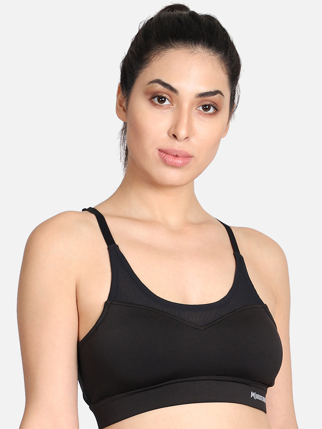 Running/Workout High Impact Sports Bra - Solid Black