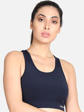 Load image into Gallery viewer, Running/Workout Sports Bra - Navy Blue