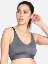 Load image into Gallery viewer, Running/Workout Sports Bra - Light Grey