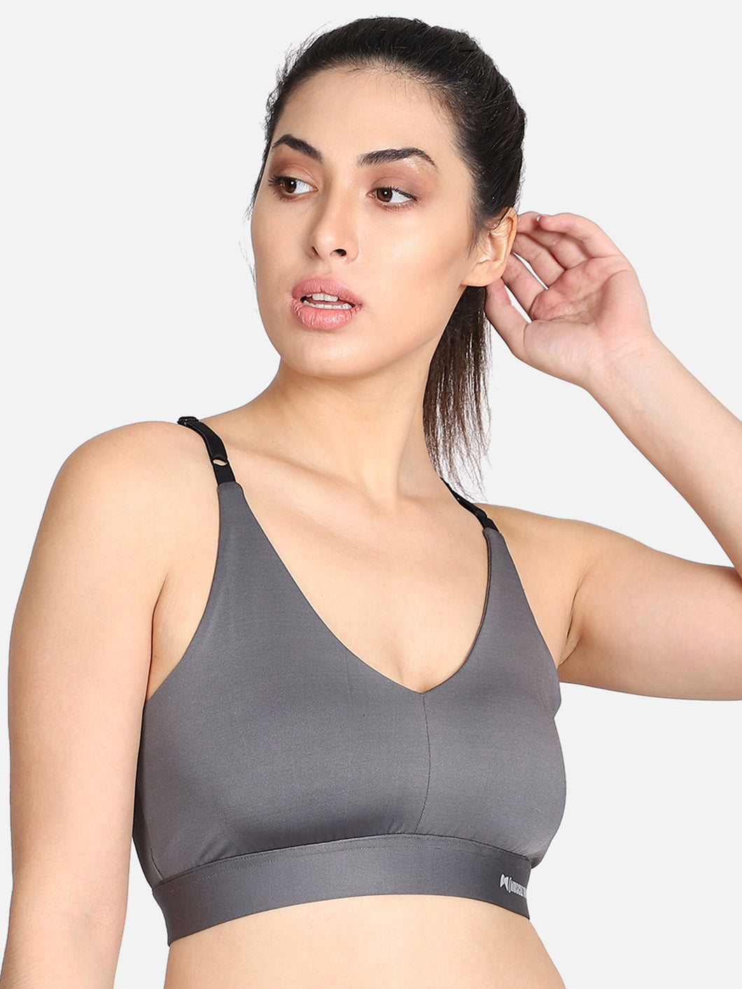 Running/Workout Sports Bra - Light Grey