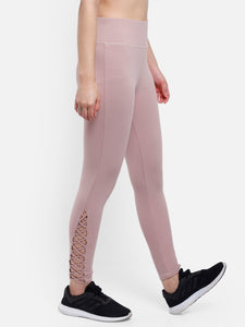 Gym/Yoga Low Waist Side Drawstring Tight - Peach