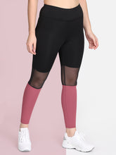 Load image into Gallery viewer, Gym/Yoga High Waist Tight Mesh On Knees - Black & Pink