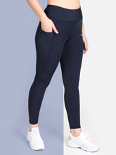 Load image into Gallery viewer, Yoga/Gym High Waist Tight Pocket Style - Solid Blue