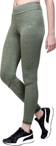 Green Melange Tights
