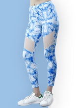 Load image into Gallery viewer, Gym/Yoga Tight Smoke Print - Blue
