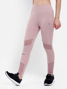 Gym/Yoga Medium Waist Tight Breathable Mesh - Peach