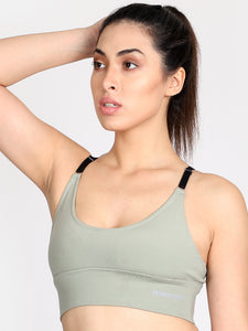 Running/Workout High Impact Sports Bra - Light Green
