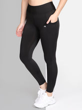 Load image into Gallery viewer, Yoga/Gym High Waist Tight Pocket Style - Solid Black