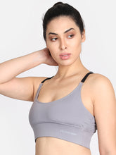 Load image into Gallery viewer, Running/Workout High Impact Sports Bra - Grey
