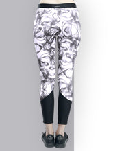 Load image into Gallery viewer, Gym/Yoga Tights Smoke Print - Black